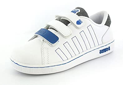 100% quality well known low cost Childrens K-Swiss Tennis Shoes Tongue Twister - White/Charcoal ...