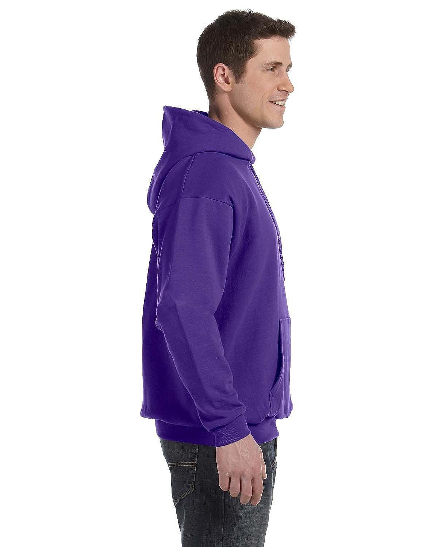 1 Purple Hanes Mens EcoSmart Hooded Sweatshirt Small 1 Black