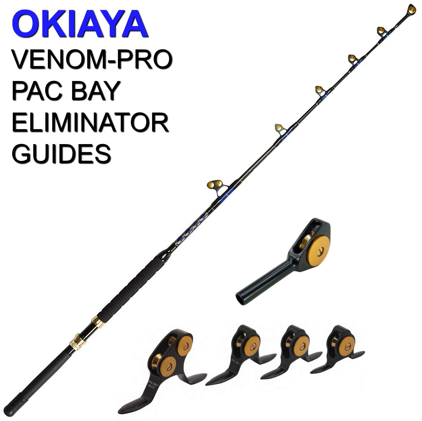 OKIAYA Carbon Fiber Venom PRO Series 80-130LB PAC Bay Guides Tournament for Penn Shimano