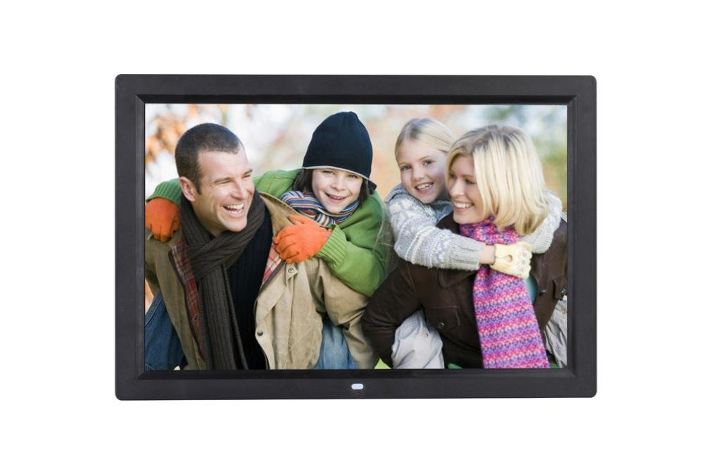 Aurorax 17-Inch Digital Photo Frame High Resolution Screen Digital Photo Frame with Motion Sensor, Front Touch Screen Button (Black)