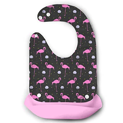 Baberos de silicona para bebé con bolsillo, impermeables ...