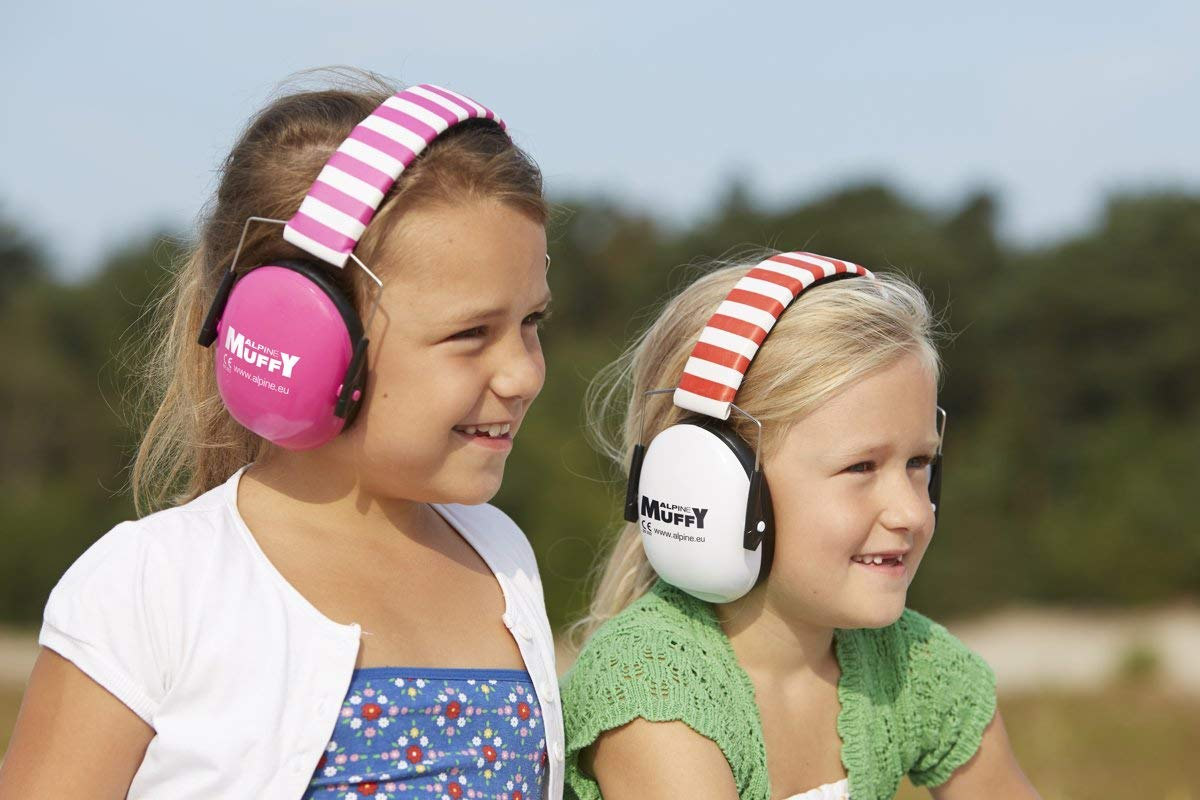 Alpine Muffy White/Red 1 Piece - Ear Muffs - Hearing Protection For your Child - Protects your child's Vulnerable Ear Canal against Loud Noises - Small - Easy to clean - Netherlands by Alpine (Image #3)