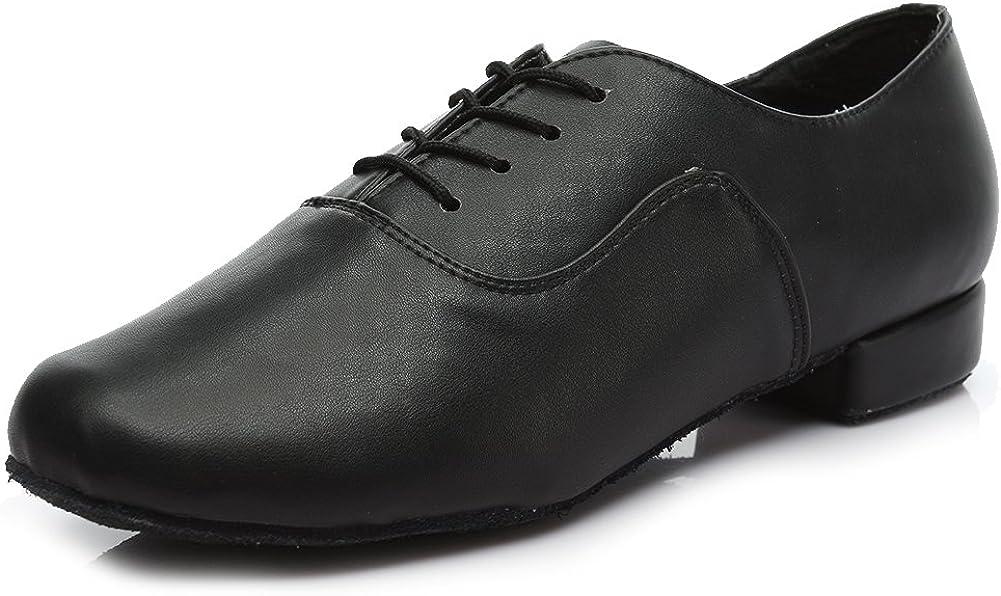 SWDZM Calzado de Danza para Hombre/estándar Cuero Latinos Zapatos de Baile Modelo 704