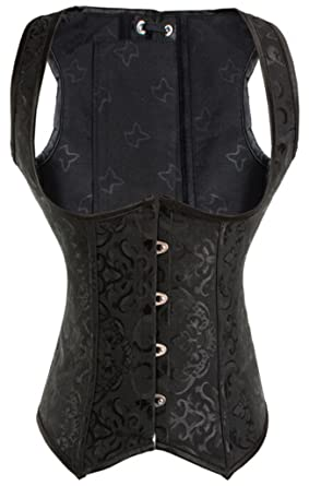 f560494de31 Alivila.Y Fashion Womens Faux Leather Underbust Steel Boned Corset ...