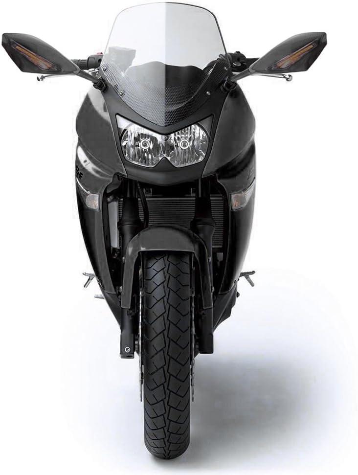 Anzio Universal Carbon Fiber Paint Intergrated LED Turn Signal Undicators Racing REARVIEW SIDE Mirrors For Sports Bikes KAWASAKI NINJA EX 250 300 ZX6R ...
