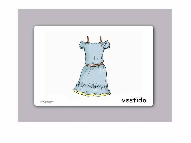 Amazon.com: Tarjetas de vocabulario - Ropa - Clothing Flashcards in Spanish: Toys & Games
