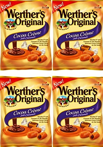 (Werther's Original New Cocoa Creme Soft Caramels 2.22 Oz (Pack of 4))