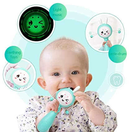 c12697627 Amazon.com  Little Bado Rattle Toys for Baby Infant 5 6 7 8 9 10 11 ...