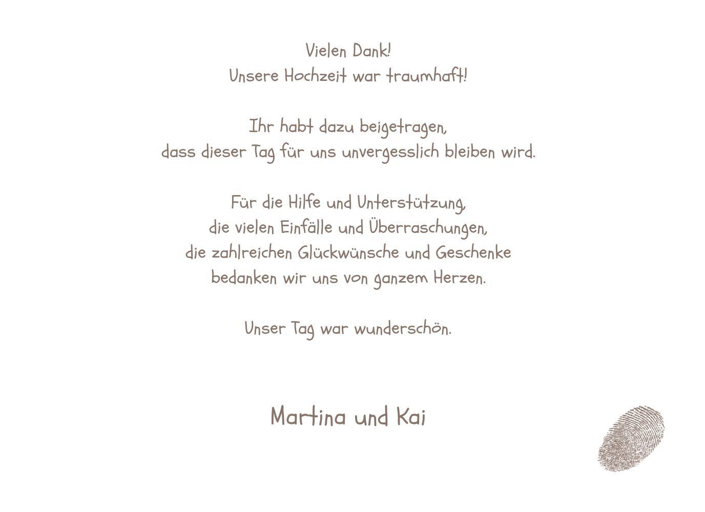 Kartenparadies Danksagung für Hochzeitsgeschenke Hochzeit Dankeskarte fingerprint, hochwertige Danksagungskarte Danksagungskarte Danksagungskarte Hochzeitsglückwünsche inklusive Umschläge   20 Karten - (Format  148x105 mm) Farbe  Grau B01NAVM1KP | Zu verkaufen  | Ausg 519ee6