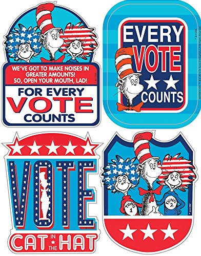 Eureka Stickers, Badges Cat in the Hat for President (659581)