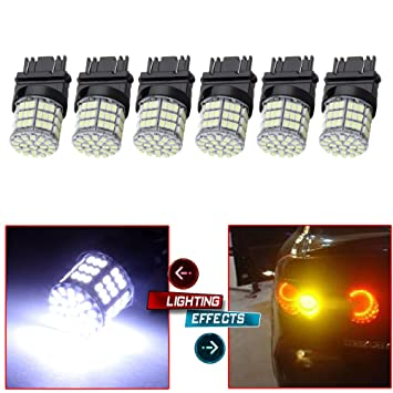 cciyu 6 x blanco 3157 Epistar 6000 K bombillas LED 54-SMD para 2007 2008