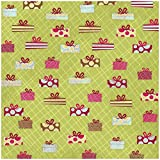 """Karen Foster Design Scrapbooking Paper, 25 Sheets, Boxes and Bows, 12 x 12"""""""