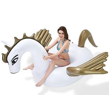 Amazon.com: Espolvoreador de unicornio hinchable gigante con ...