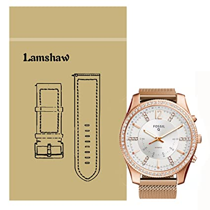 166e611d5 Amazon.com: For Fossil Q Scarlette Band, Lamshaw Milanese Metal ...