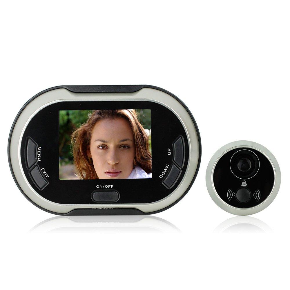 Front door peephole camera - Lerway 3 5 Inch 170 Degrees Wide Angle Peephole Tft Lcd Digital Door Viewer Doorbell Security Camera Cam Door Chimes Amazon Com