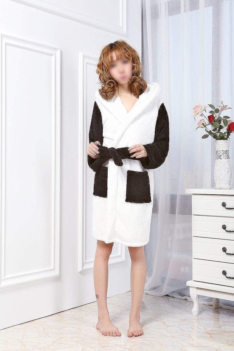Súper acogedor y cálido traje de baño para mujeres con linda oreja con capucha Ultra suave Fleece ropa de dormir regalo perfecto pijamas niñas niños: ...