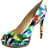 Guess Women's Honora 2 Leather Peep-Toe Pumps