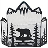 DeLeon Collections 21578 Metal Bear Fire Screen