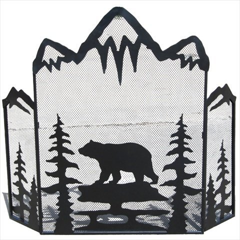fireplace screen bear - 1