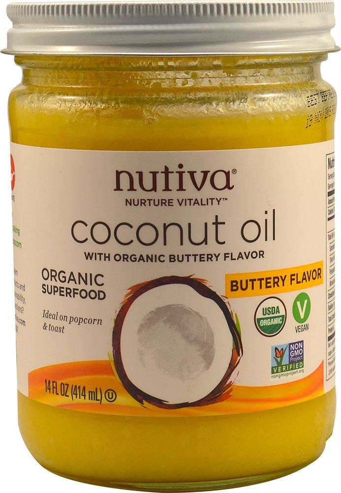 Nutiva, Organic Coconut Oil, Buttery Flavor, 14 fl oz  Pack of 2