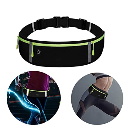 71633d5541f4 Running Belt Waist Pack, Farred360 [Waterproof] Slim Fitness Storage Fanny  Pack for Hands Free Workout - ID, Card Holder, Keys, Cellphone Including ...