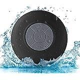BONBON Waterproof Bluetooth Shower Speaker Portable Wireless Water-Resistant Speaker Suction Cup, Built-in Mic…