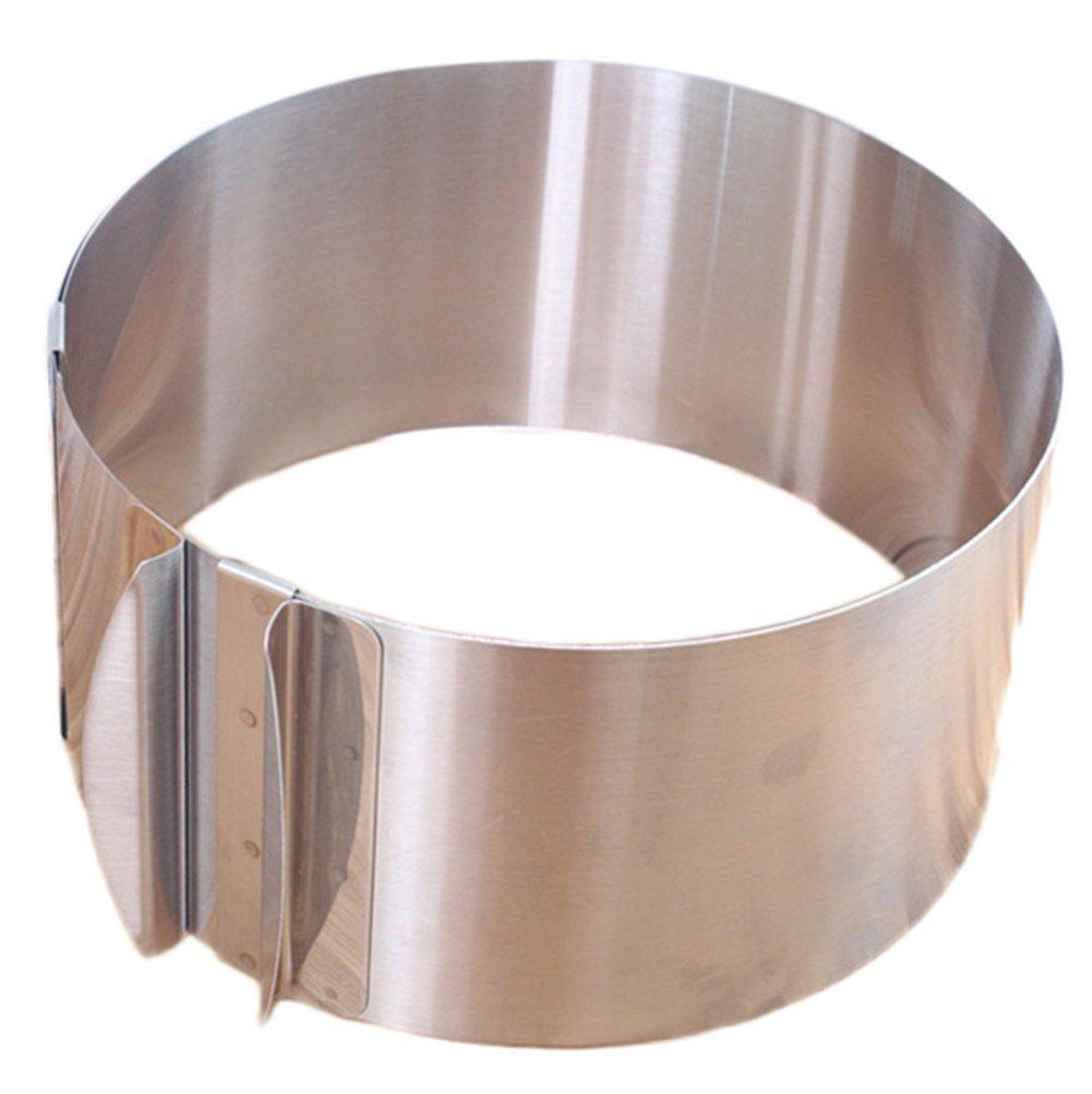 Jungen anelli torta regolabile torta muffa cottura accessori per mousse torta in acciaio INOX con scala 6/8/10/30, 5 cm 5cm