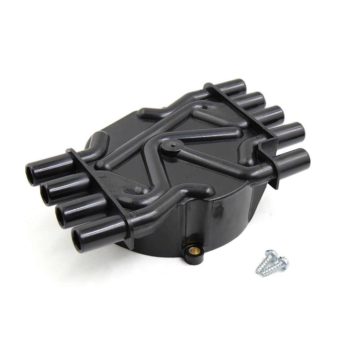 Uxcell a17051500ux1399 Black D329A Auto Car Ignition Distributor Cap for Chevrolet Avalanche Express Silverado Suburban C1500 C2500 8 Cylinder Engine
