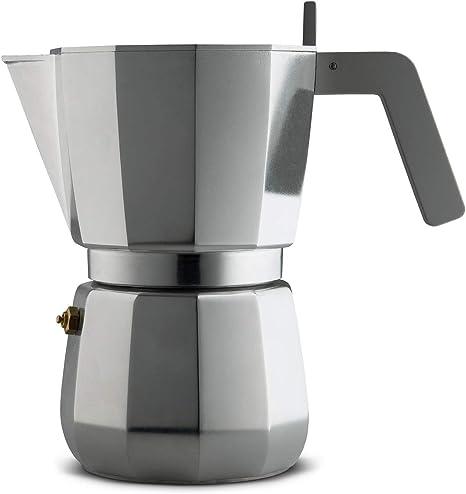 Alessi Moka Cafetera para café exprés de diseño en aluminio ...
