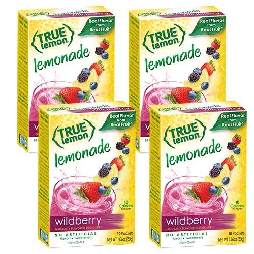 - True Lemon WILDBERRY LEMONADE (Pack of 4) 10ct each box. True Citrus