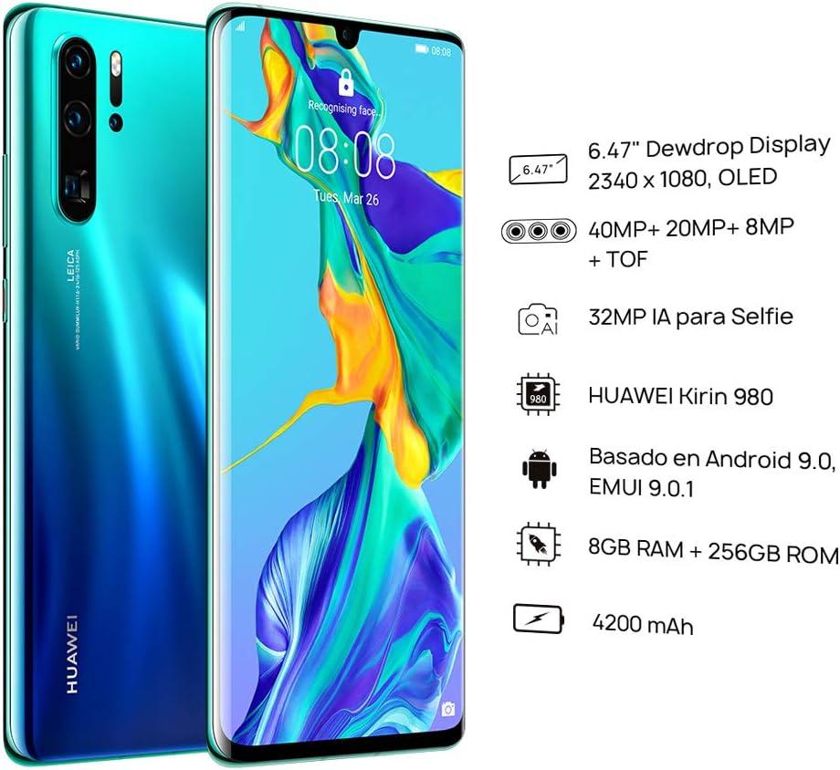huawei p30 pro 128gb 8gb ram vog l29 40mp lte factory unlocked gsm smartphone international version no warranty in the us aurora