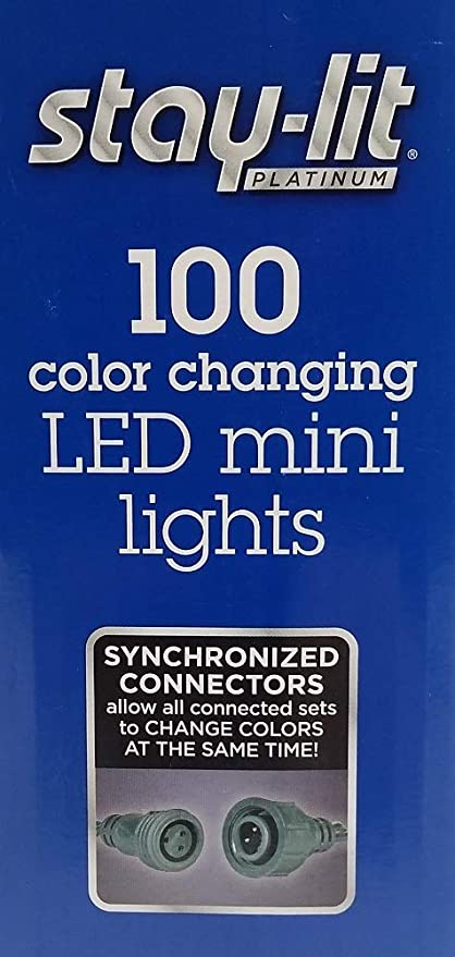 Your Choice 100 Sylvania Stay-Lit Mini LED String Lights Multi-Color or Clear