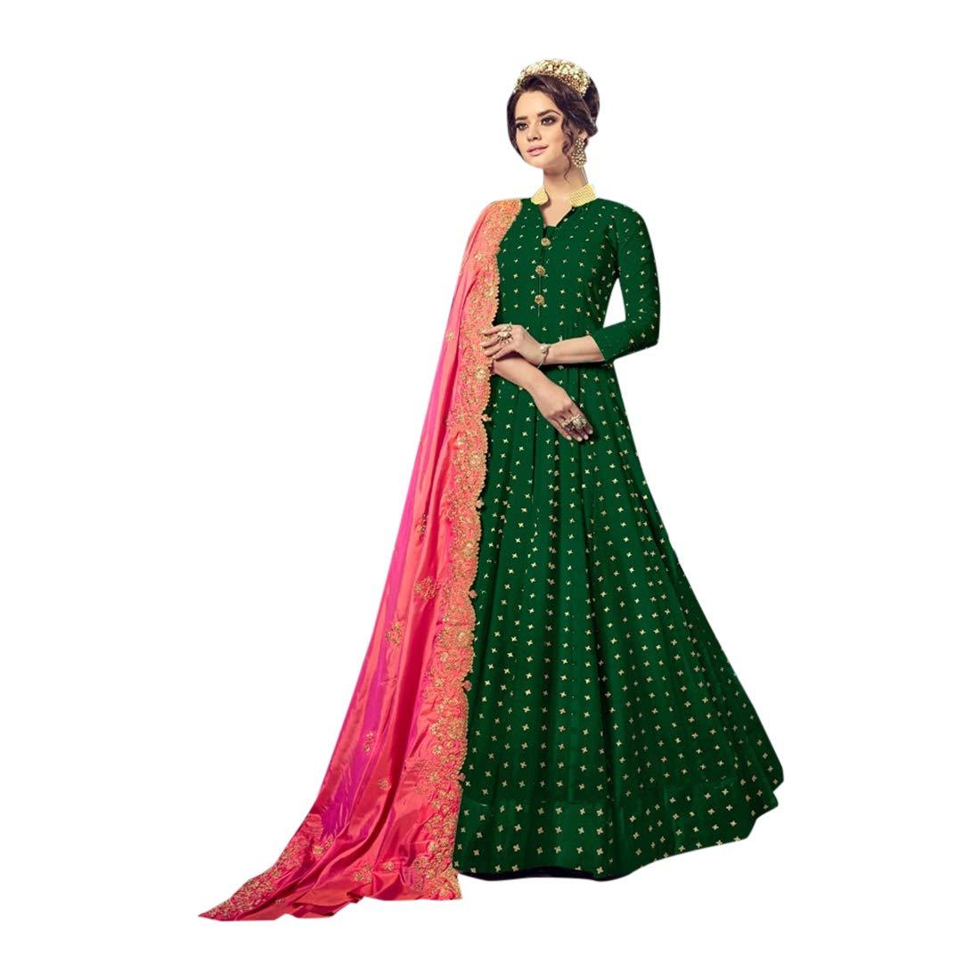 New Pure Cotton Anarkali Suit Indian Muslim Ethnic wear Festive Apparel(L,XL,XXL) 7210 5
