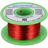 """BNTECHGO 28 AWG Magnet Wire - Enameled Copper Wire - Enameled Magnet Winding Wire - 4 oz - 0.0122"""" Diameter 1 Spool Coil Red"""