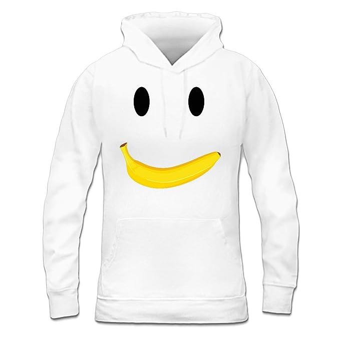 Sudadera con capucha de mujer Banana Smiley by Shirtcity: Amazon.es: Ropa y accesorios
