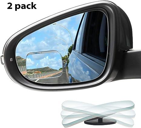 UK Adjustable 2x Car Blind Spot Rear View Mirror ViewMirror Rotatable Black