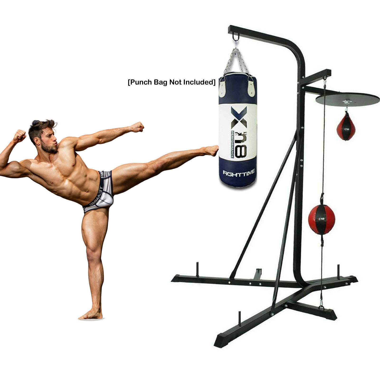 XN8 5.5ft Free Standing Punch Bag Stand MMA Training Martial Arts Heavy Duty Kick Boxing Dummy Target