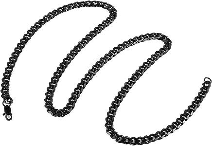HZMAN - Collar clásico para Hombre de Acero Inoxidable 316L ...