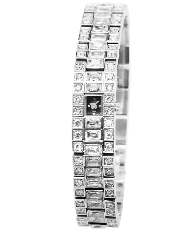 Q&Q Grandeux Damenuhr mit Silberfarbiges armband Analog Quarz Y005-202