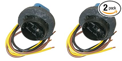 Parts Master 82023 3-Wire Multi-Use Lamp Socket and Pigtail Connector GM  (Pack of 2)