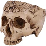 MagiDeal Human Skull Head Flower Pot Planter Bed Box Container Replica Home Bar Decor