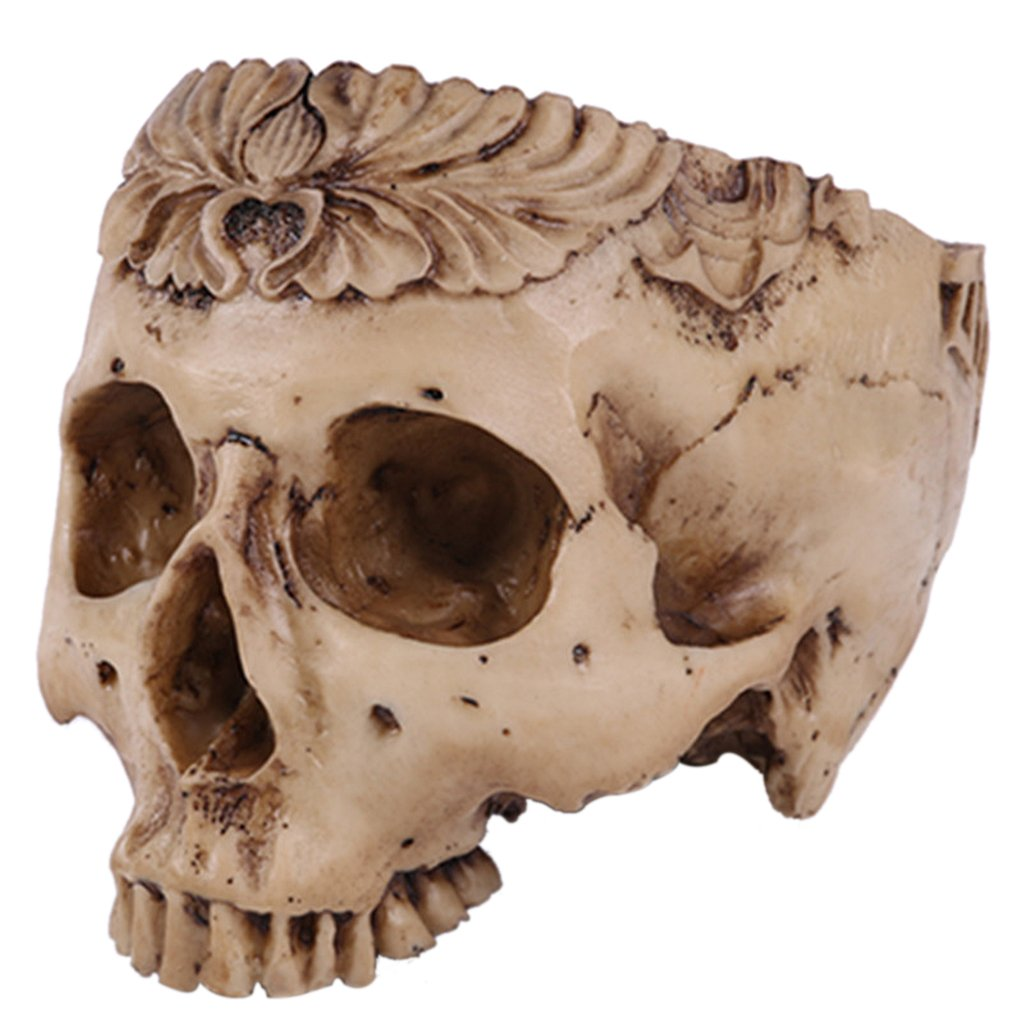 Amazon Magideal Human Skull Head Flower Pot Planter Bed Box