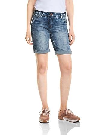 01f78ff2f407b Cecil Women's 371356 Scarlett Blue Bermuda Shorts, Blue (Mid Blue Used Wash  10320)