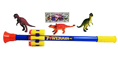 Imprints Plus 5 Piece Toy Blowgun Set With Blow Dart Gun And Soft Foam