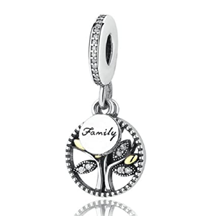 5f986cdda Amazon.com: Family Tree Charms Bead Authentic 925 Sterling Silver ...