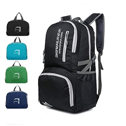 Amazon.com  Luisport Foldable Backpack Small Mini Backpack for Women Laptop  Backpack for Women Fashion Backpack for Sport Travel Hiking and Working  (Black)  ... 3fc059b487