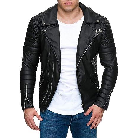 pretty nice e4978 deef7 Biker Jacket,Zolimx Giacca Uomo Giacca Davis Uomo Iubbotto ...