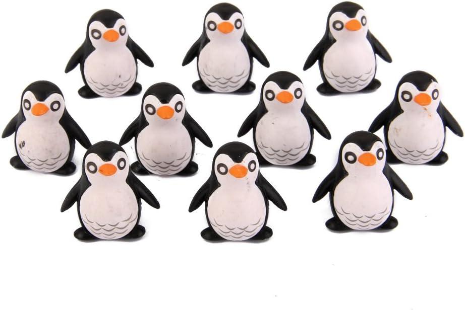 10pcs Dollhouse Casa de Muñecas Miniatura Pingüinos Resina Decoración de Bonsai Paisaje Jardín (2x1cm): Amazon.es: Juguetes y juegos