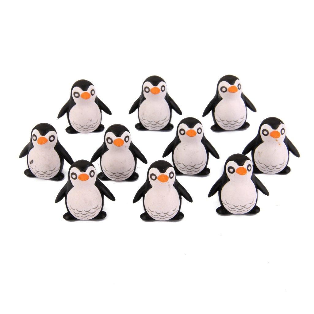10pcs Miniature Penguin Bonsai Ornaments Micro Landscape Decoration 2 x 1cm Generic