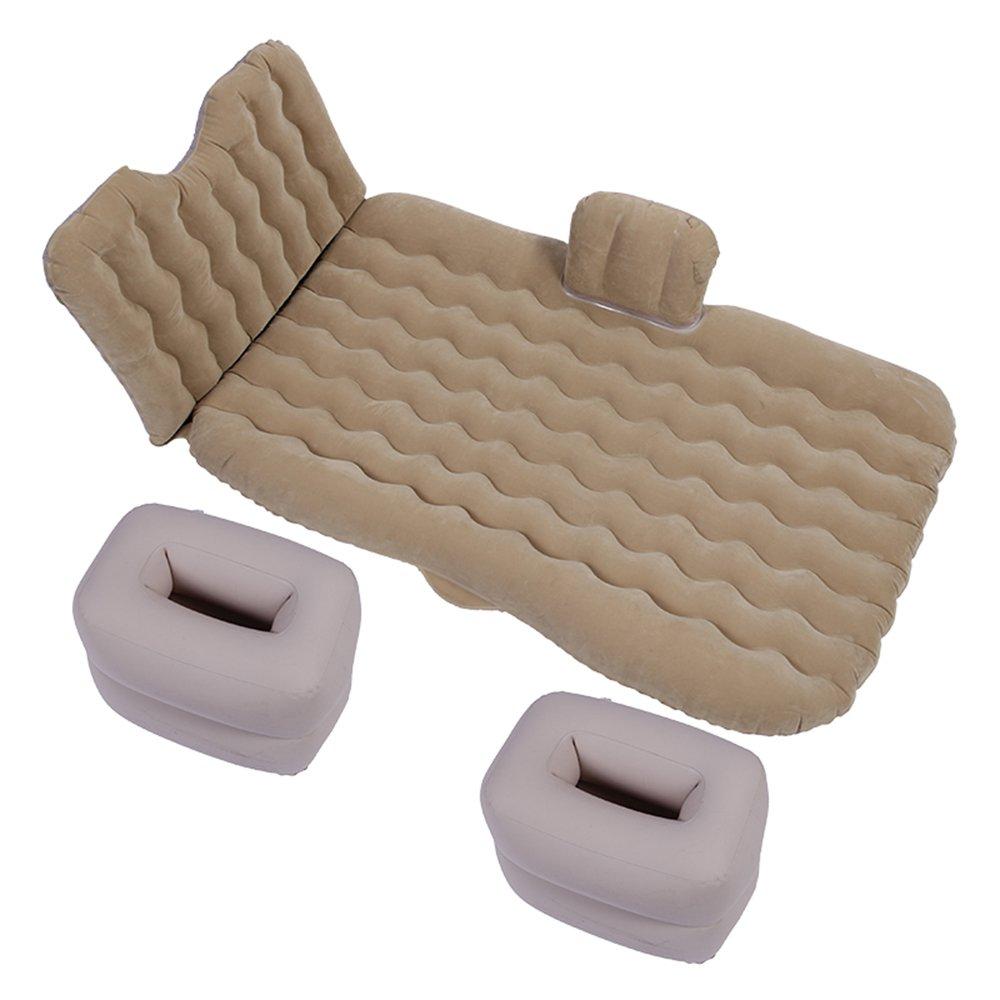 ZXQZ Aufblasbare Bett Auto Multifunktionale SUV Hinten Reisebett Outdoor Camping Aufblasbare Bett Erwachsene Tragbare Mobile Luft Bett Aufblasbares Bett (Farbe : Beige)